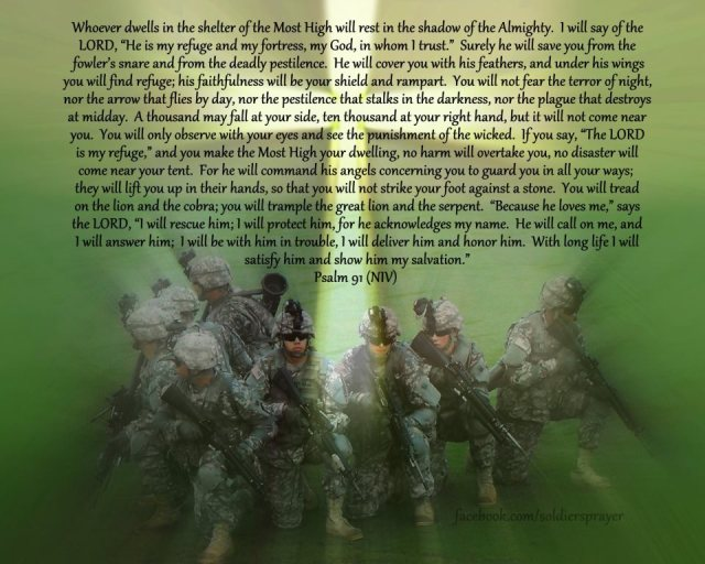 Psalm 91 - soldiers