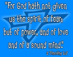 god has not given spirt of fear post