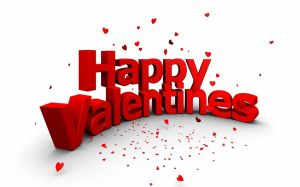 happy-valentines-words with heart confetti