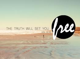 the truth will set you free John 8.32 (2-on sandy beach)