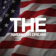 American Dream with flag