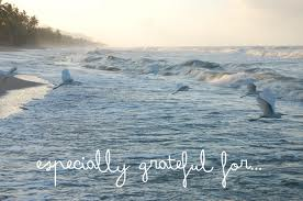 grateful with pic of ocean